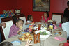 Everyone enjoyed the feast.  Chicken, burgers and hot dogs from the grill, baked beans, salad, chips and salsa, cornbread......