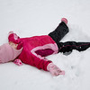 Snow angel time!