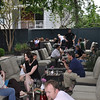 Many of our new friends on a perfect night for outdoor dining at Paggi House