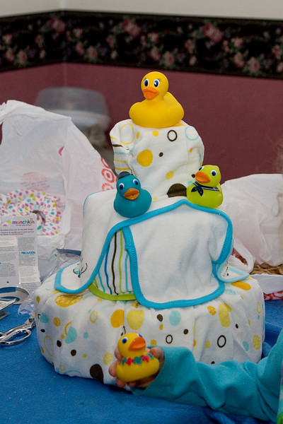 Diaper cake I made for Jenn