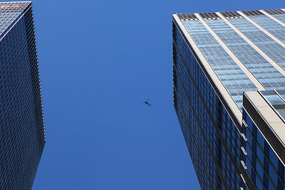Helicopter up above