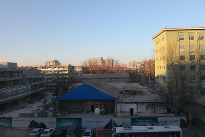 View outside hotel room in Beijing2