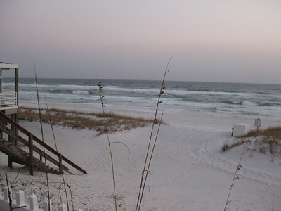 Destin Florida Beach Stormy Weather December 2010