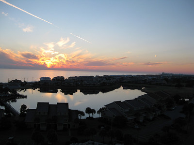 View Of Sunrise From Destin Florida Condo December 2010