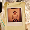 Monday, July 5 - rummaging through some things in my parents house I ran across this - the first photo I ever took!  It's a Polaroid of mom, probably from the late 70's / early 80's.<br /> I remember the conversation and her giving instructions about the camera, the awesome controlled explosion of the flash bulb, and of course that awesome magic of watching the photo develop right before your eyes.