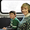 TJ and Katie on Amtrak.