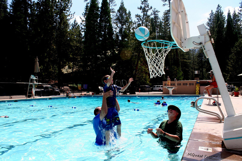Hume Lake Pool Area- Water Play