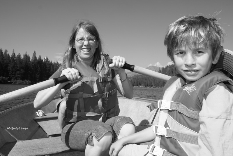 JR and Wife - Row Boats - Hume Lake - Sequoia