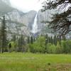 Three levels of Yosemite Falls.