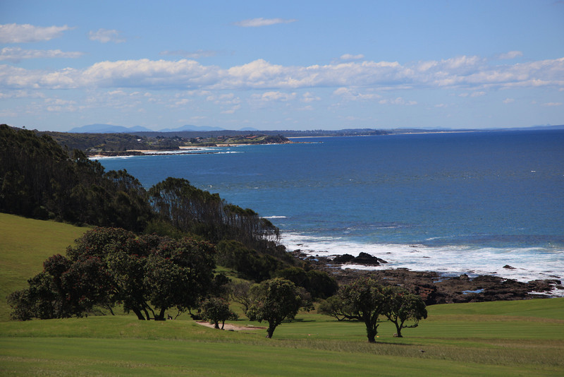 The view from the Narooma Golf Course.