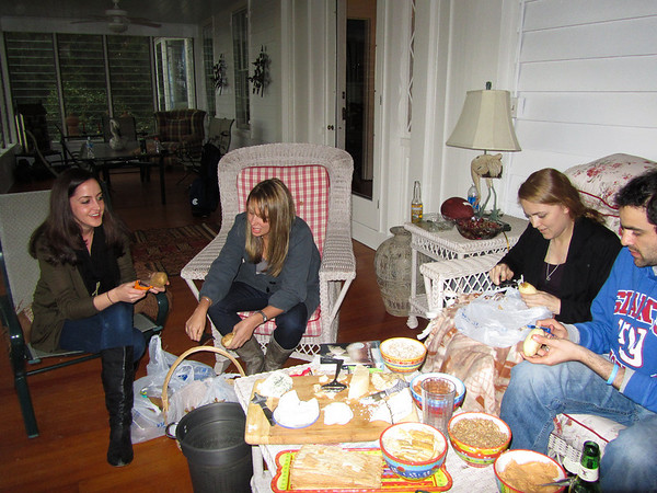 Colleen's_photos-4<br /> There was not a shortage of food during the Thanksgiving stay.<br /> l-r Lena Ramadan, Annie (Ramsey's girlfriend), Geramia (Zane's girlfriend) and Zane Ramadan.