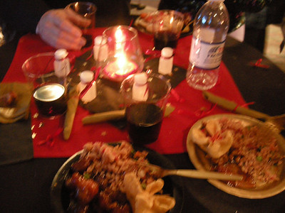 the food was fabulous and the wine flowed freely