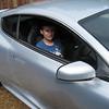 S W E E T says Aleric as he gets ready to road test Bob's Aston Martin.