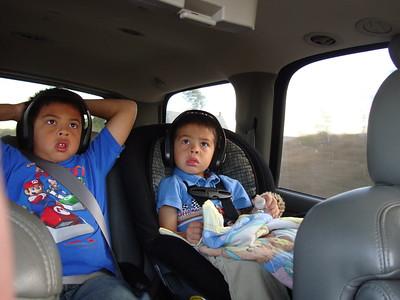 2010-10-18 AJ & Dylan DVD on the car