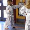 Nils and Liv in karate class