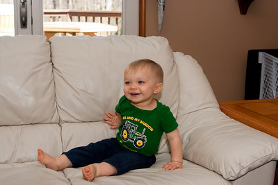 Ethan is big enough to climb up on the couch now.  Special thanks to Laura for taking this one.