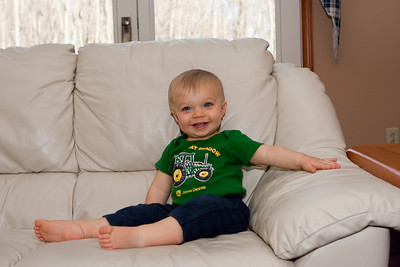Ethan sits still just long enough for Laura to take this photo.