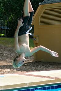 Mikey upside-down again