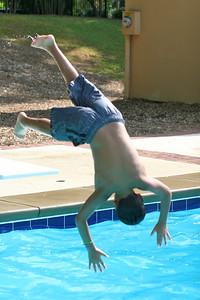 Michael dives