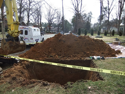 Sewer Line  Replacement February 2010