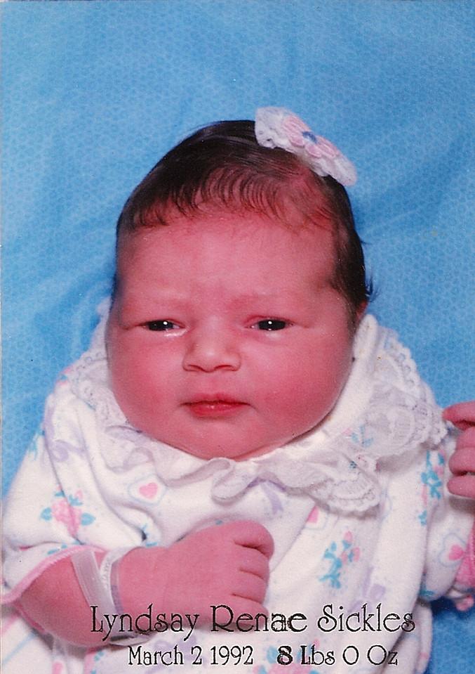 Lyndsay is Born!  March 2, 1992.