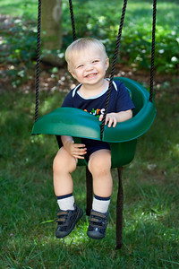Ethan enjoys the baby swing.  It is one of the few ways we can get him to sit still for a picture.