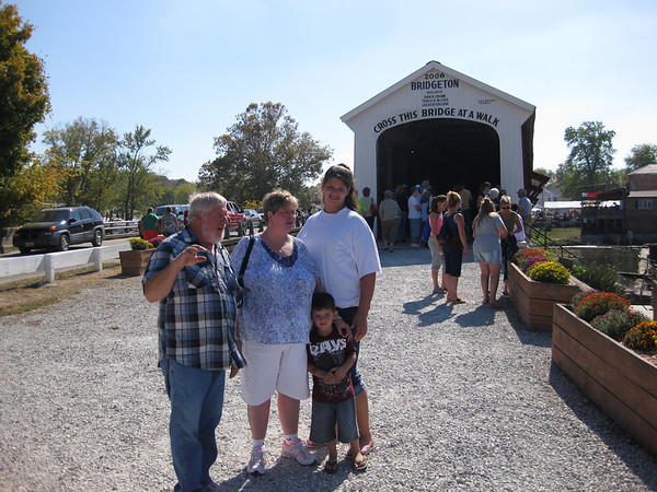 10 August, 2011 ~ Covered bridge festival in Indiana with Ed and the family.
