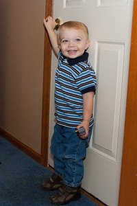 Ethan gets ready for picture day at school.