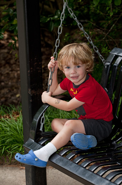 Ready for action, Socks with Crocs!<br /> <br /> Birmingham Botanical Gardens