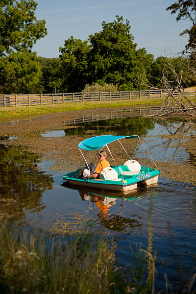 """The paddleboat  """"Christy"""" guided by Captain Steve!"""