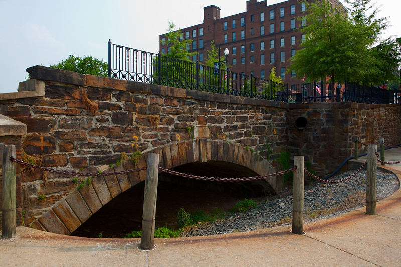 1830's stone bridge near James River and Kanawha Canal  Lynchburg, Virginia