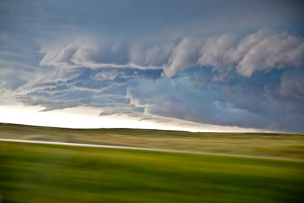 A wall cloud we ran into in South Dakota.  It was NASTY getting through it.
