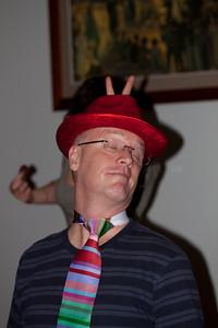 David and his Horizontally striped tie