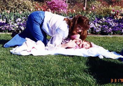 Rachel at the Dallas Arboretum, 3/31/96.