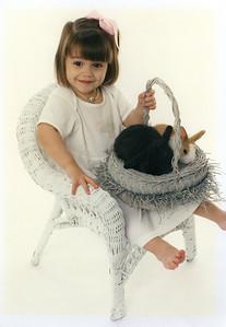 Rachel, Easter 1997, 2 years old.