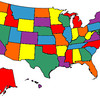 "Bud's ""States Visited"" Map, March 2012."