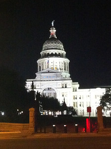 Cell phone pic of Texas State Capitol, March 2012.
