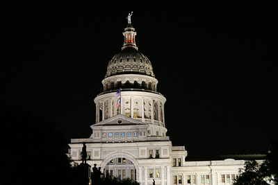 Texas State Capitol on an early Spring night, 2012, Austin, TX.