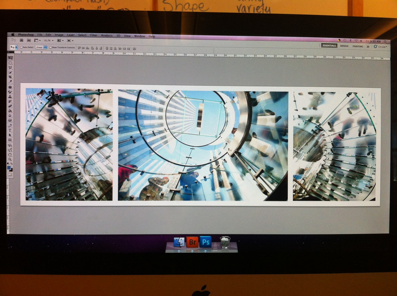 Rachel's montage picture.  The Apple Store, Times Square, New York City, March 2012.