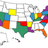 "Grant's ""States Visited"" Map, March 2012."