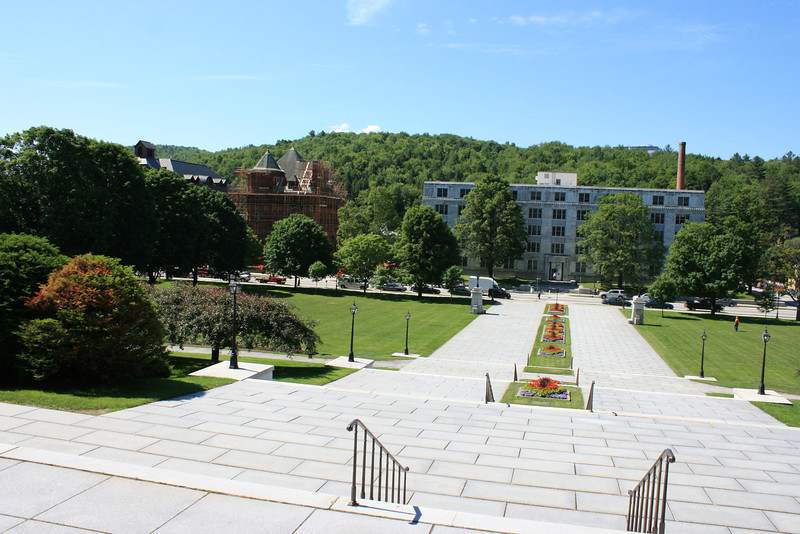 View from the Vermont State Capitol steps, Montpelier, VT.