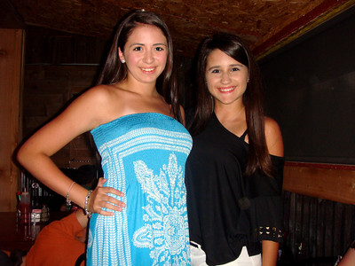 Rachel and Victoria at Papa Joe's Restaurant in Harlingen, TX, July 2011.