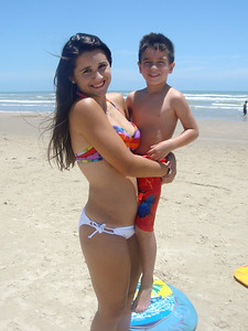 South Padre Island, TX, July, 2011.  Rachel with Mikey Gonzalez.