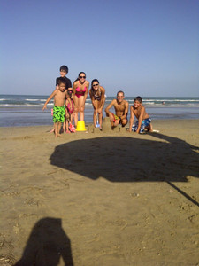 Mikey, Grant, Victoria, Rachel, Justin, Ethan at SPI, TX, July 2011.