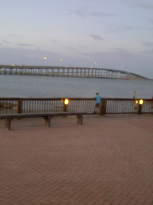 SPI bridge from Pelican Station Restaurant in Port Isabel, TX, July 2011.