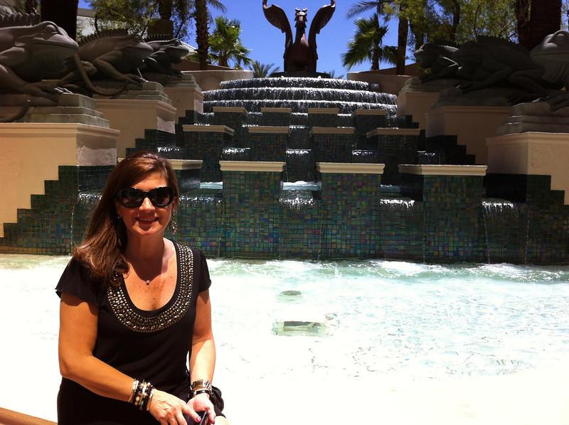 In Las Vegas, June 22-25, 2012.  Four Seasons' pool next to Mandalay Bay.