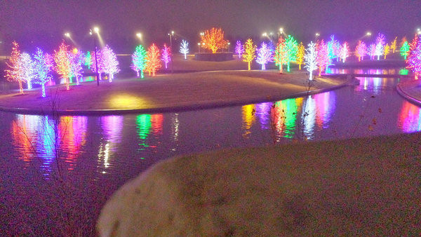 Vitruvian lights in Addison, TX.