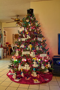 Cheryl's Snowman Tree 2010