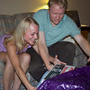 Amy and David stopped by Laura's to open their gift from us.