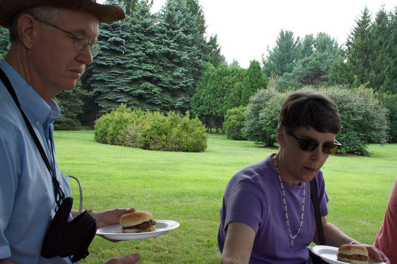 The day after the wedding, we met David and Amy at their church, and had a picnic afterward, near Laura's house.